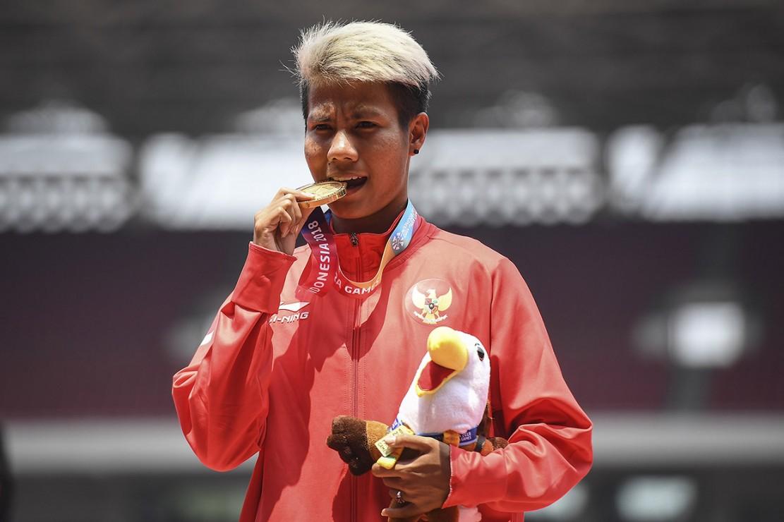 Indonesia Tambah Emas dari Lompat Jauh