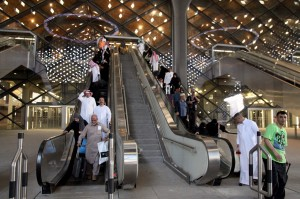 Suasana di stasiun kereta api cepat Mekkah.