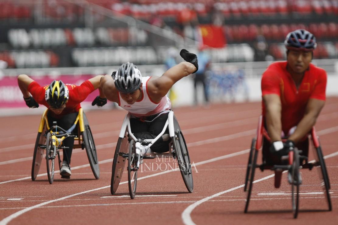Jaenal Aripin Sumbang Perak dari Lari Kursi Roda