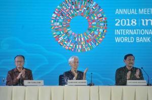 Presiden Bank Dunia Jim Yong Kim juga memberikan apresiasi yang sama seperti Lagarde sambil kembali mengucapkan rasabelasungkawa atas bencana alam gempa bumi, tsunami dan longsor yang terjadi di Lombok, Nusa Tenggara Barat dan Palu, Sukawesi Tenggara.