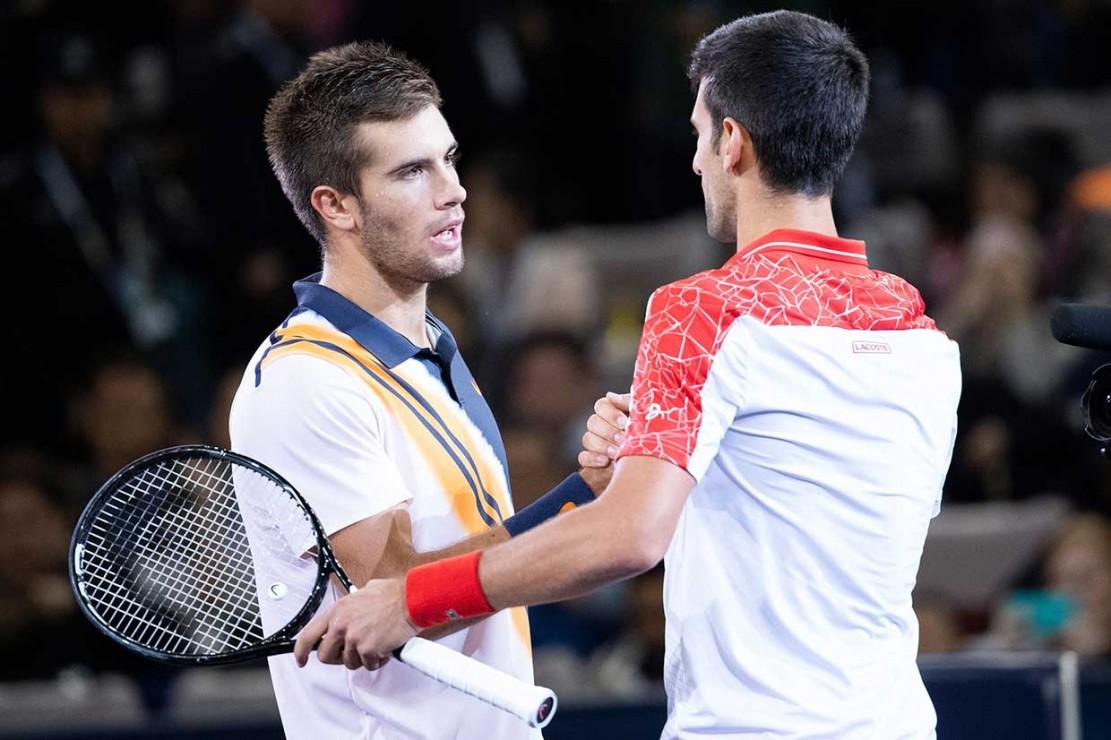 Djokovic menjadi kampiun setelah di final mengalahkan petenis Kroasia dengan skor 6-3 dan 6-4.
