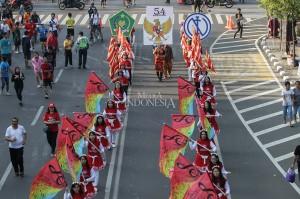 Berbagai macam kesenian tradisional memeriahkan acara tersebut.