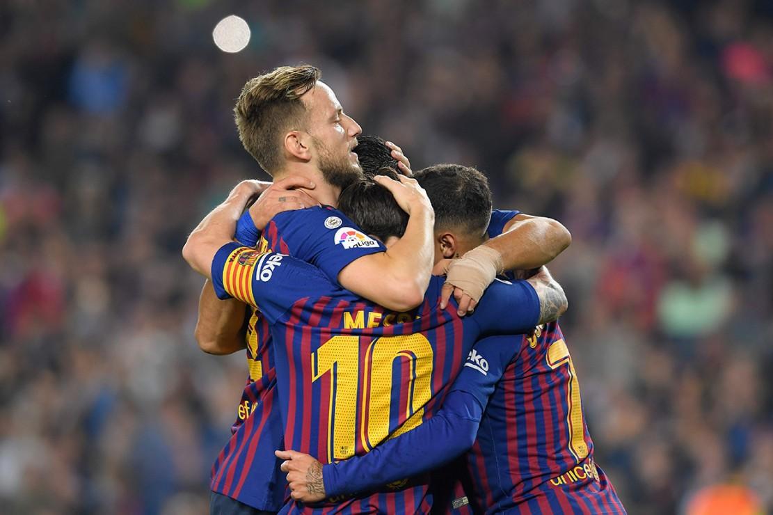 Pada pertandingan pekan kesembilan Liga Spanyol ini, Barcelona mendapatkan gol melalui aksi Philippe Coutinho (menit ke-2), Lionel Messi (12'), Luis Suarez (63'), dan Ivan Rakitic (88').