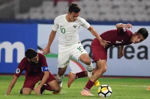 Timnas Indonesia U-19 kalah 5-6 dari Qatar dalam pertandingan kedua Grup A Piala Asia U-19 2018 di Stadion Utama Gelora Bung Karno.