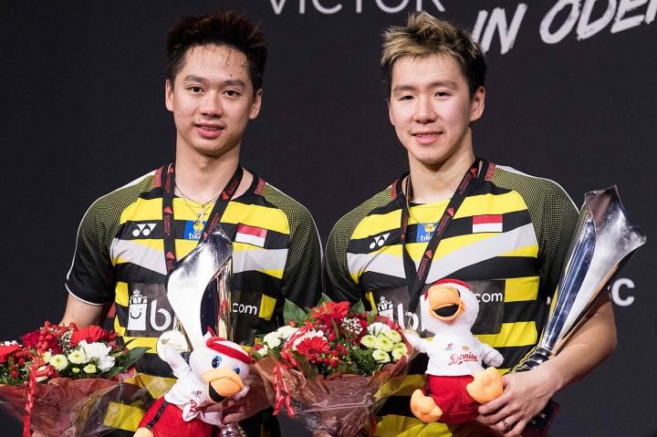 Kevin/Marcus Juara Denmark Open 2018