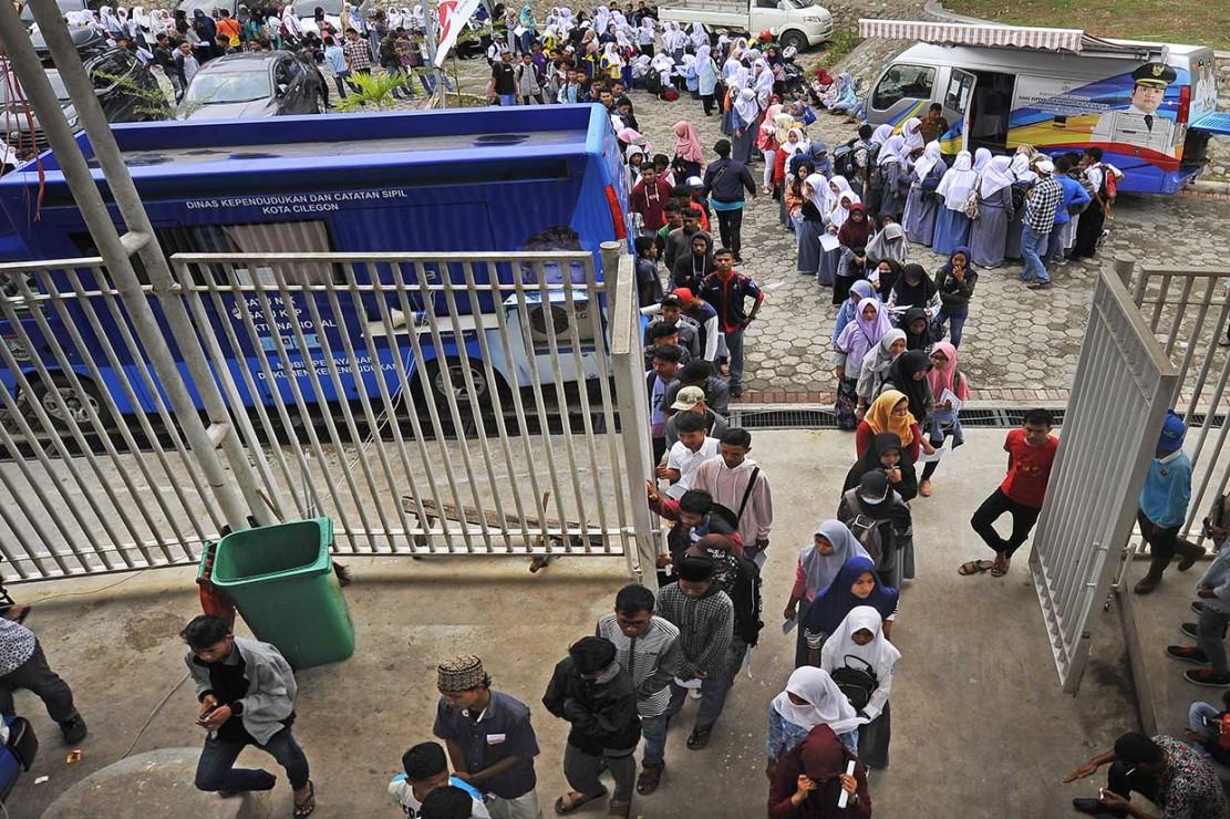 Pembuatan KTP-El tersebut untuk menjaring pemilih pemula di Provinsi Banten untuk kelancaran penggunaan hak pilih mereka dalam Pemilu 2019.