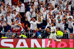 Los Blancos menggandakan keunggulan pada menit ke-55 lewat tendangan chip Marcelo menyelesaikan umpan matang Gareth Bale.