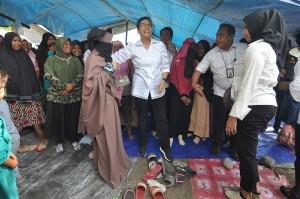 Dalam kunjungan ke Palu, Menteri Keuangan meninjau sejumlah fasilitas Satker Kementerian Keuangan yang mengalami kerusakan akibat gempa dan tsunami.
