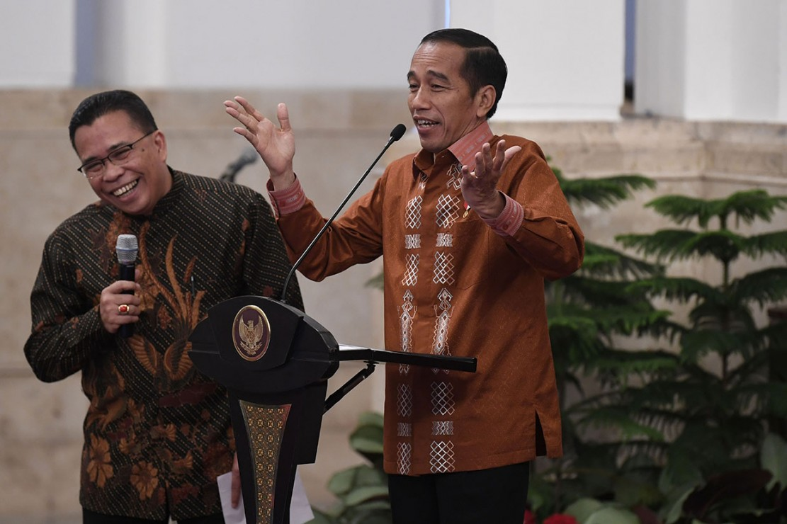 Jokowi Buka Forum Pimpinan Gereja se-Indonesia di Istana