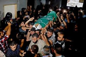 Muntazer Mohammed al-Baz, 17, tewas ditembak tentara Israel dalam bentrokan di perbatasan, di bagian timur Jalur Gaza, Kamp Pengungsi Palestina, Bureij, Selasa, 23 Oktober.
