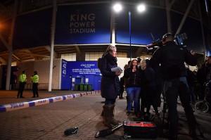 Insiden ini terjadi usai pertandingan antara Leicester melawan West Ham.
