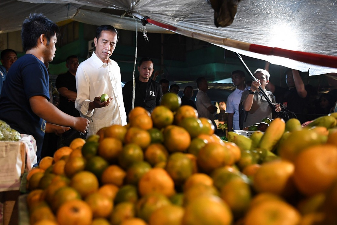 Jokowi Blusukan ke Pasar Bogor
