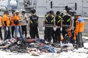 Hingga hari ini, RS Polri sudah menerima 48 kantong jenazah dari tim penyelamat. Tim dari Badan Nasional Pencarian dan Pertolongan (Basarnas) fokus mencari Lion Air JT 610 di perairan Karawang. Antara Foto/Muhammad Adimaja