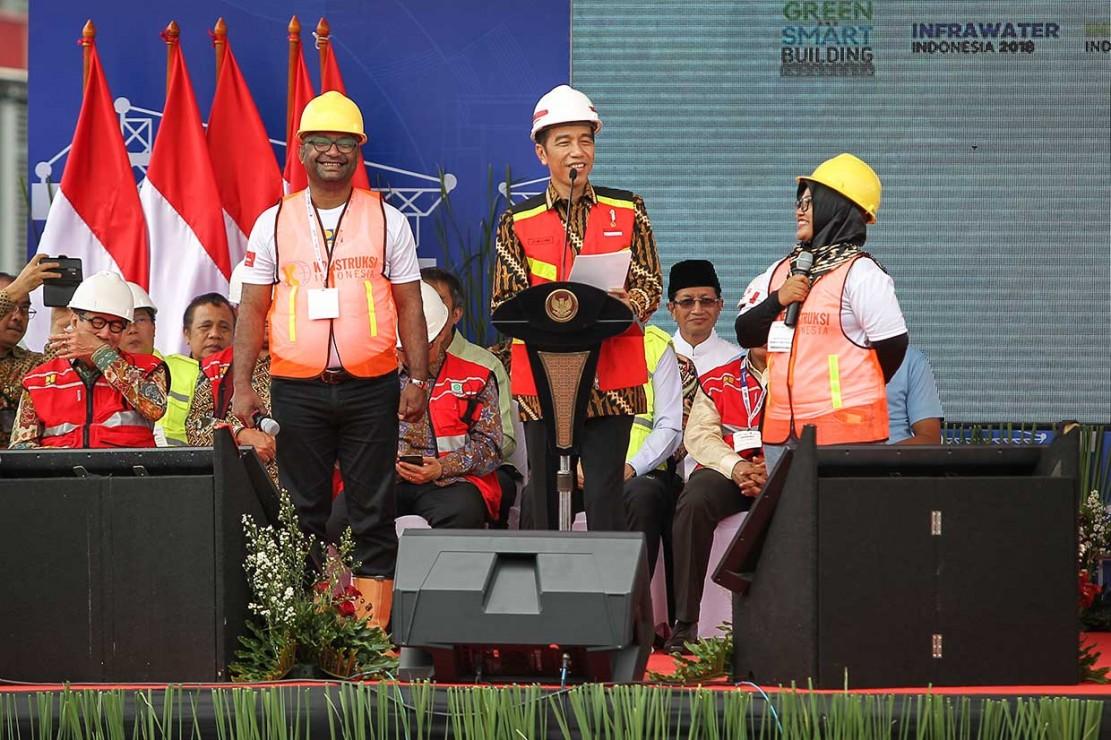Presiden Minta Pekerja Konstruksi Bersertifikat Terus Ditambah