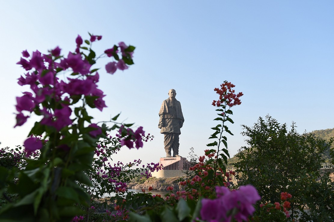 Patung ini memiliki nama 'Statue of Unity'.