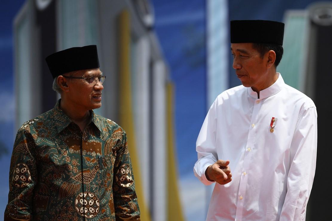 Jokowi Letakkan Batu Pertama Tower Universitas Muhammadiyah Lamongan