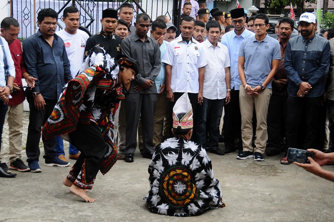 Sandiaga Resmikan Sekber Pemenangan di Aceh