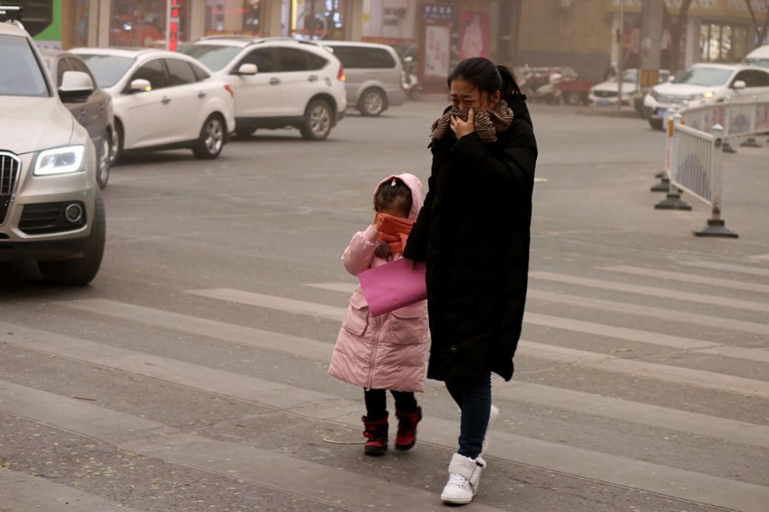 Badai Pasir Terjang Gansu Tiongkok