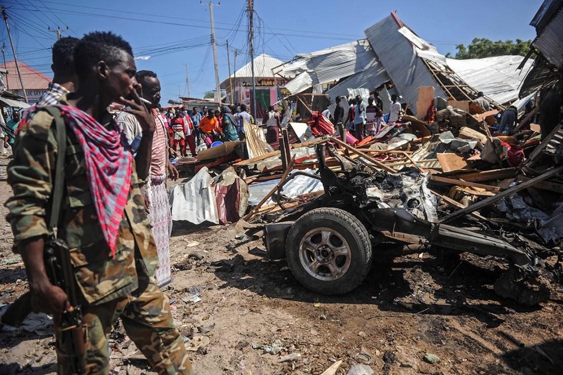 Bom di Pasar Mogadishu Tewaskan Tujuh Orang