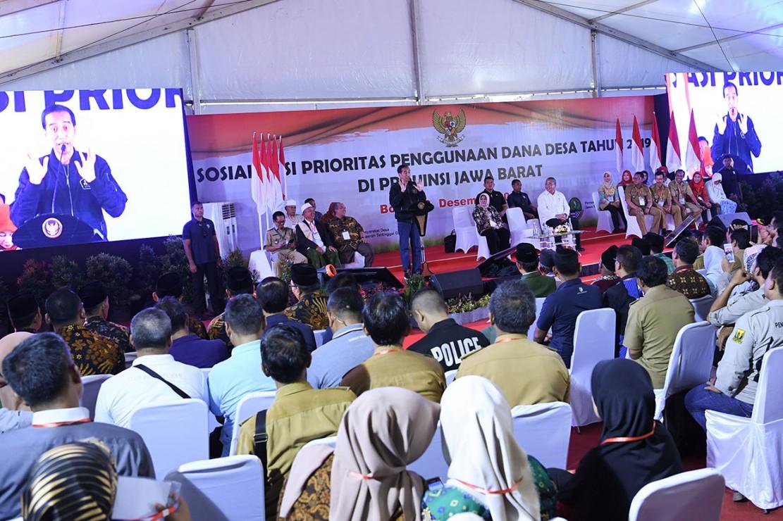 Jokowi: Dana Desa Harus Dimanfaatkan untuk Pembangunan Desa