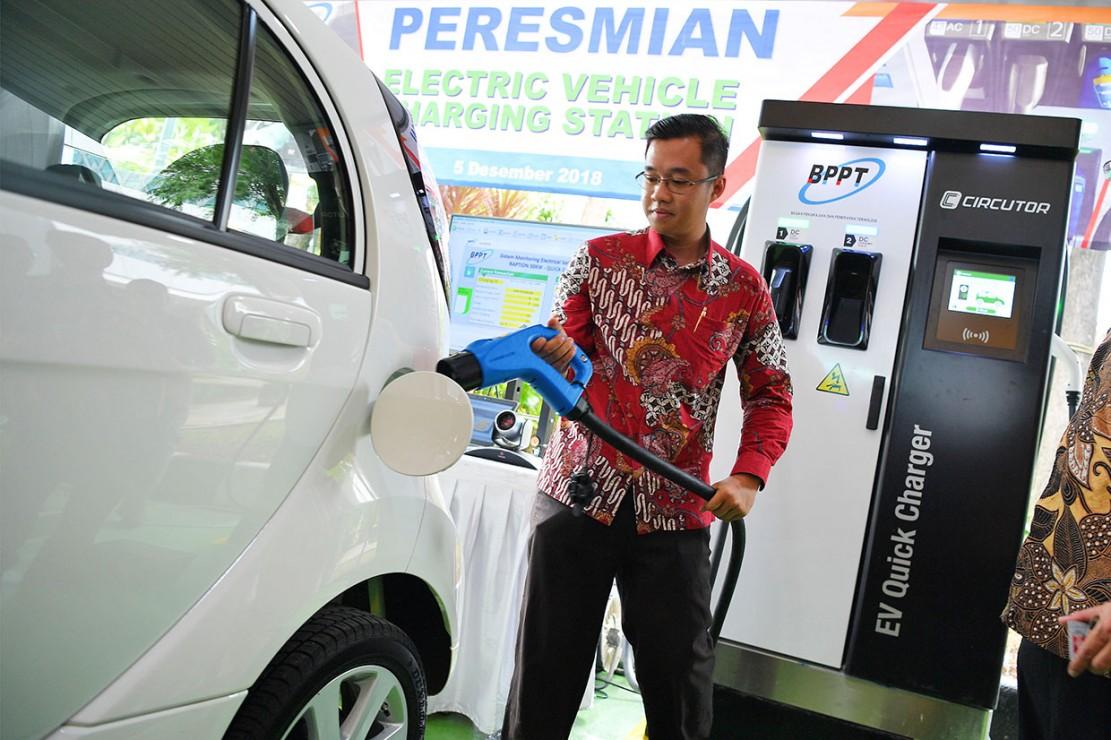 BPPT Luncurkan Stasiun Pengisian Kendaraan Listrik