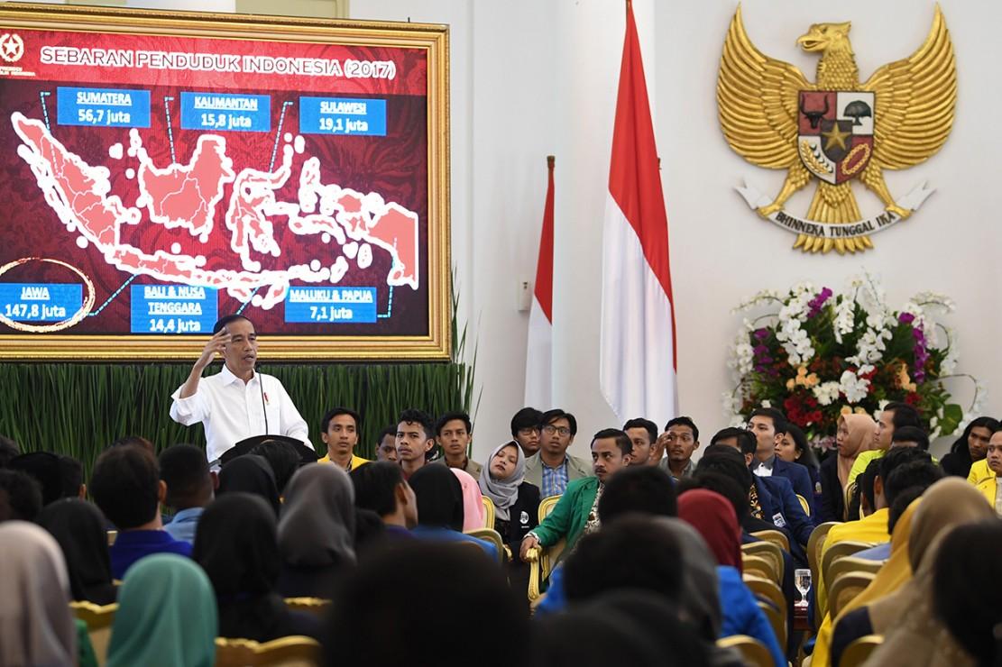 Jokowi Terima Peserta Konferensi Mahasiswa Nasional di Istana