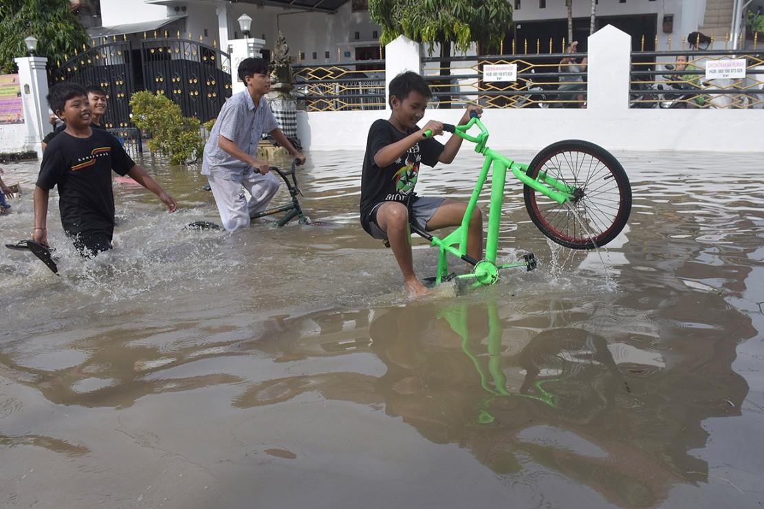 Sejumlah Kawasan di Denpasar Terendam Banjir