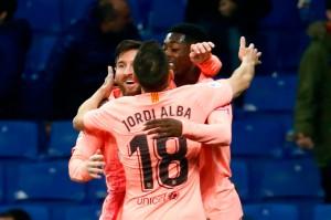 Sembilan menit berselang Messi melepaskan umpan matang yang dengan tenang diselesaikan oleh Ousmane Dembele untuk menggandakan keunggulan Barcelona.