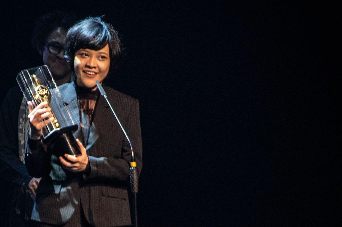 'Marlina Si Pembunuh Dalam Empat Babak' juga berhasil meraih penghargaan bergengsi untuk kategori Sutradara Film Panjang Terbaik dalam ajang FFI 2018, yaitu Mouly Surya. Antara Foto/Aprillio Akbar