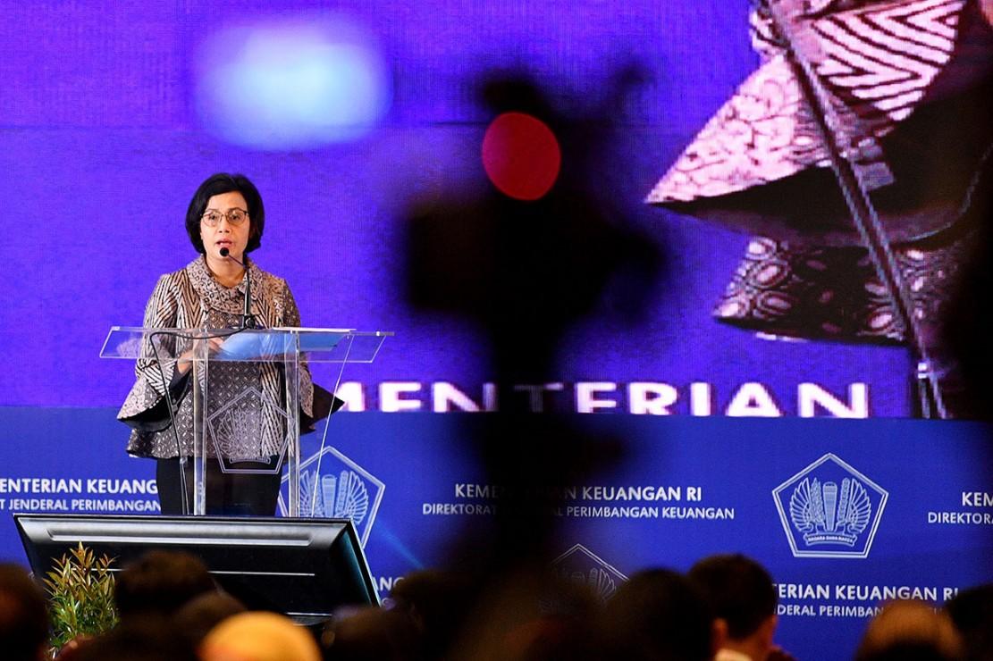 Sri Mulyani saat memberikan sambutan dalam acara sosialisai transfer ke daerah dan dana desa tahun anggaran 2019 di Jakarta, Senin, mengingatkan tindakan tersebut berpotensi melanggar hukum karena merupakan perilaku koruptif yang dapat merugikan keuangan negara.