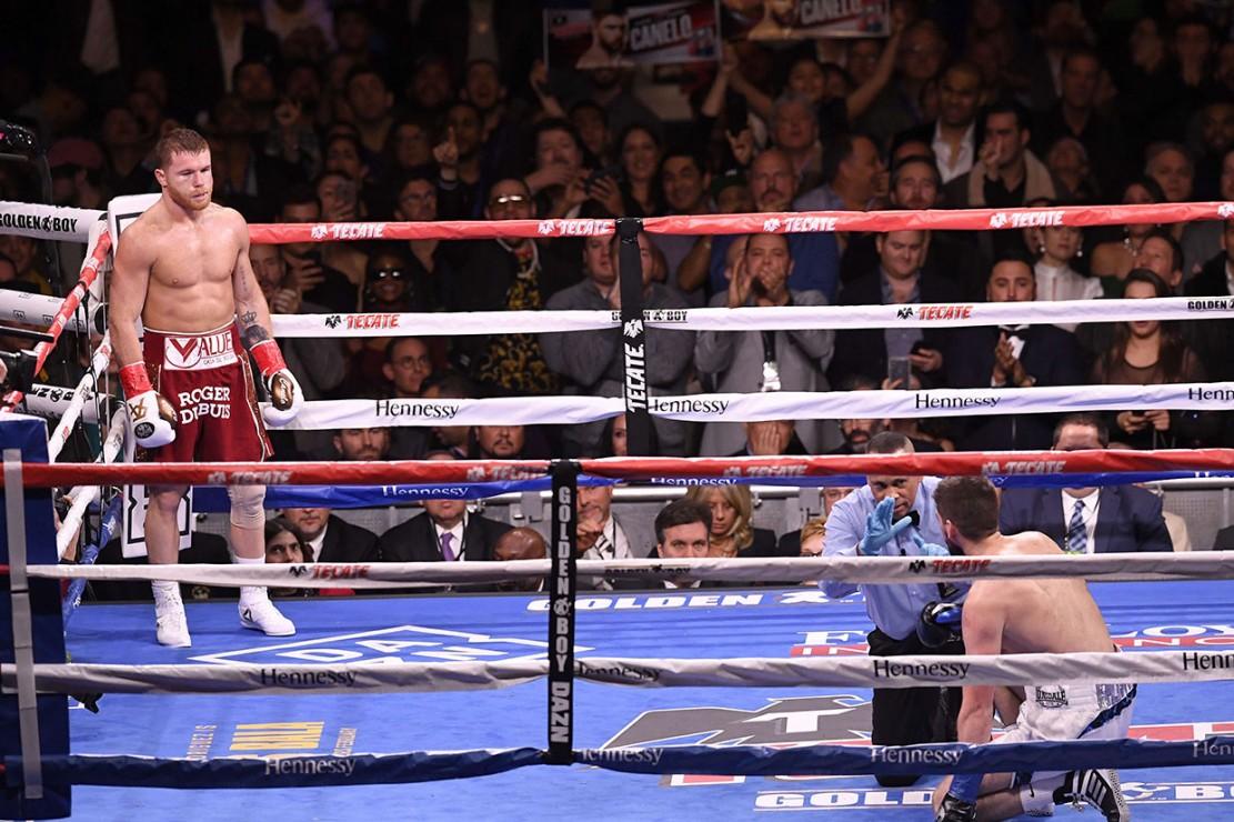Alvarez memukul jatuh Fielding di ronde pertama.