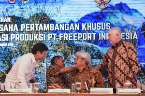Saham PT Freeport sebanyak 51,2 persen sudah resmi beralih ke Indonesia melalui PT Inalum. Resminya pengalihan saham tersebut ditandai dengan proses pembayaran dan terbitnya Izin Usaha Pertambangan Khusus Operasi Produksi (IUPK) sebagai pengganti Kontrak Karya (KK) PTFI yang telah berjalan sejak 1967 dan diperbaharui pada 1991 dengan masa berlaku hingga 2021.