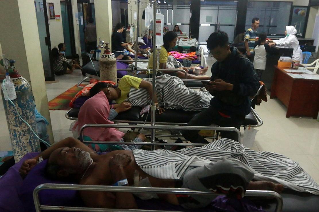 Kondisi pasien yang dirawat di RS Bob Bazar mengalami luka ringan hingga luka berat. Antara Foto/Ardiansyah