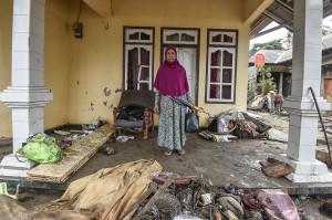 Kecamatan Sumur, Kabupaten Pandeglang, Banten, menjadi wilayah yang tercatat paling parah terkena dampak tsunami Selat Sunda.