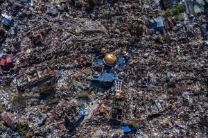 Perumnas Balaroa Palu, amblas pasca-rangkaian gempa hingga bermagnitudo 7,4 yang melanda, 28 September 2018. Kawasan permukiman ini merupakan salah satu permukiman yang paling parah terdampak gempa. Antara Foto/Hafidz Mubarak A