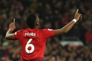 Pogba mencetak gol kedua pada menit ke-78 untuk membawa MU unggul 3-0.