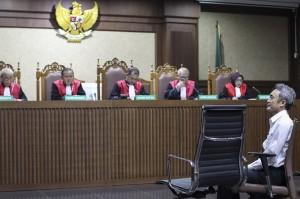 Mantan petinggi Lippo Group Eddy Sindoro mengikuti sidang dakwaan di Pengadilan Tipikor Jakarta.