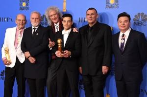 California: Bohemian Rhapsody menjadi film terbaik di Golden Globes yang baru saja berlangsung di The Beverly Hilton, Beverly Hills, California, AS, Minggu, 6 Januari 2019, malam waktu setempat. Demikian pula aktor Rami Malek yang berperan sebagai Freddie Mercury di film itu, menyabet gelar Best Actor. Afp Photo