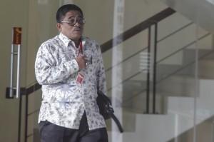Direktur Jenderal Otonomi Daerah (Otda) Kemendagri Soni Sumarsono memenuhi panggilan pemeriksaan sebagai saksi di KPK.