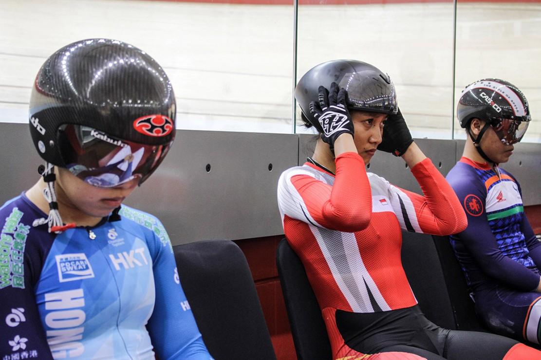 Sebelumnya, Crismonita dan rekannya Wiji Lestari gagal meraih medali di nomor Women Elite Team Sprint Asian Track Championships 2019.