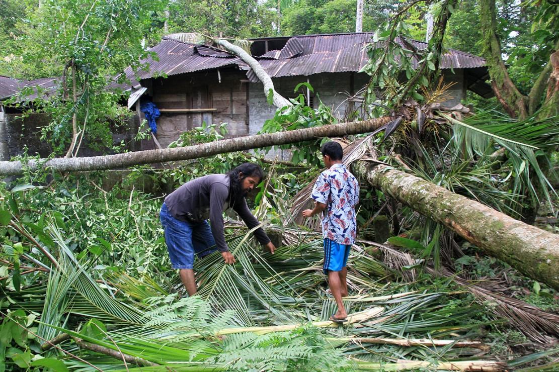 Sementara itu gajah liar juga merusak empat unit rumah warga Desa Kila dan Blang Teungku, Seunagan Timur, Nagan Raya.