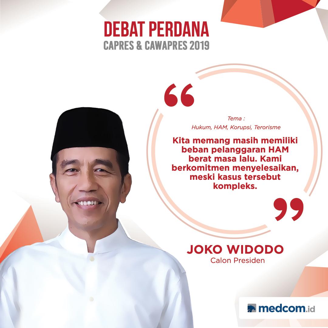 Kutipan Joko Widodo Tentang Pelanggaran HAM Masa Lalu