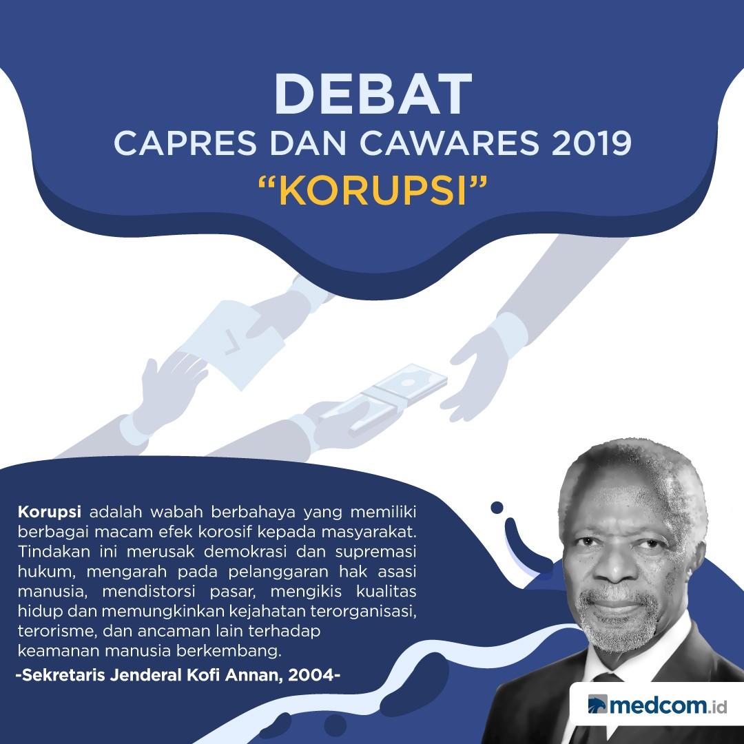 Tema Korupsi Dalam Debat Capres dan Cawapres 2019