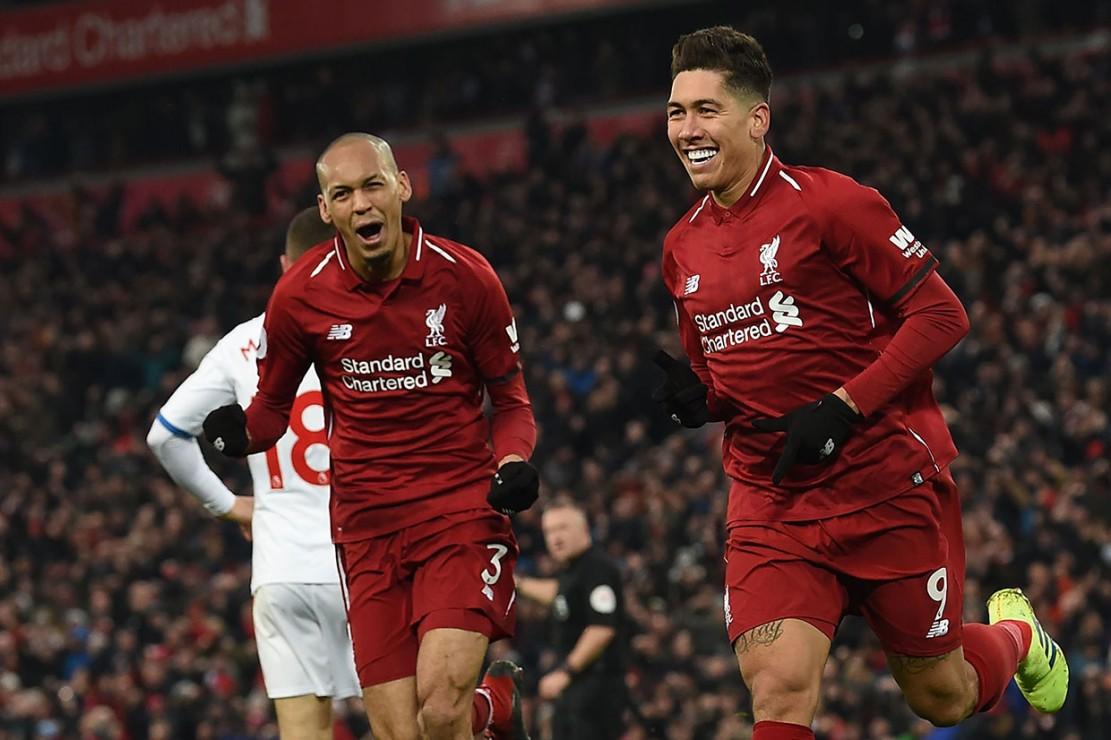 Tujuh menit berselang The Reds berbalik unggul lewat gol Roberto Firmino menyambut umpan matang Naby Keita.