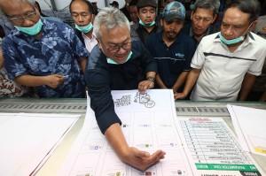 Kunjungannya itu untuk menyaksikan secara langsung proses cetak perdana surat suara Pemilu 2019.