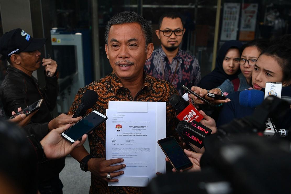 Prasetio mendatangi KPK untuk menyerahkan Laporan Harta Kekayaan Penyelenggara Negara (LHKPN).