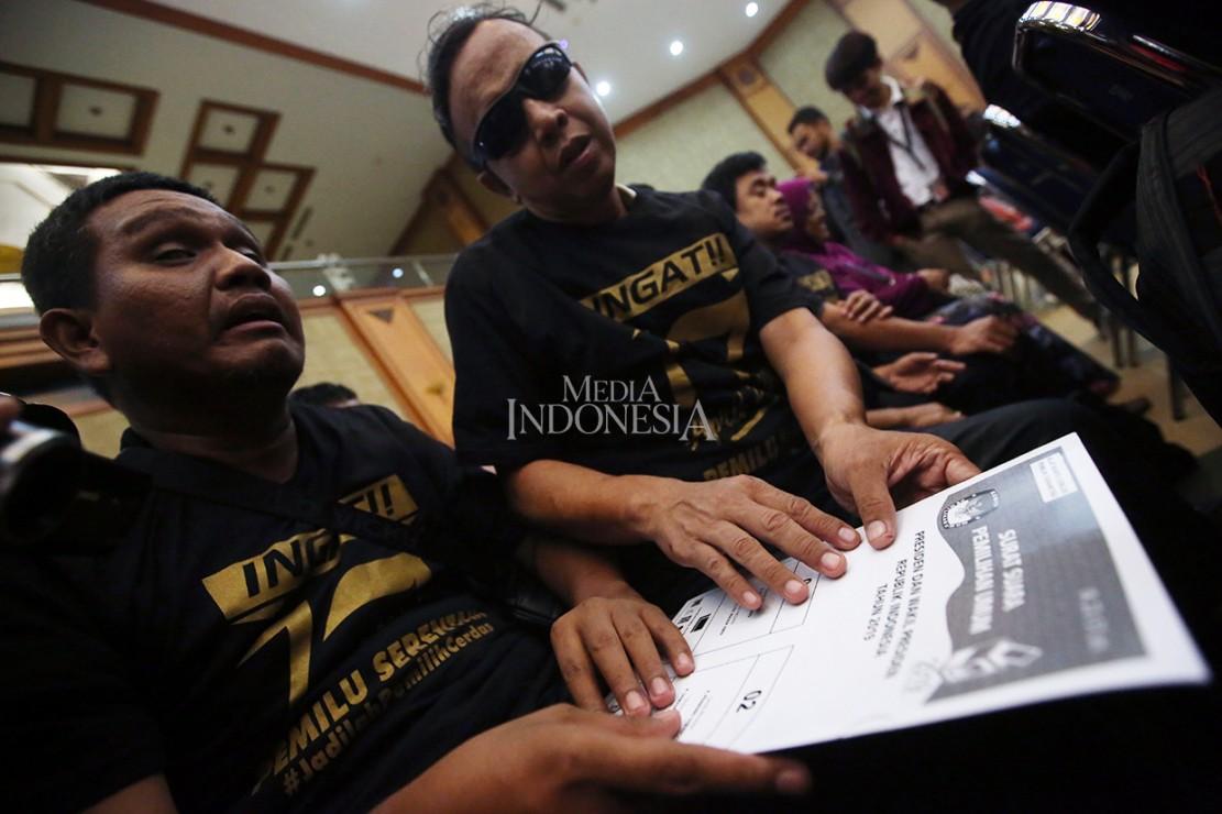 Kegiatan yang diselenggarakan Pusat Pemilihan Umum Akses Penyandang Disabilitas (PPUA Disabilitas) tersebut bertujuan untuk memberikan informasi kepada penyandang disabilitas dalam menggunakan hak suaranya pada Pemilu serentak 17 April 2019.