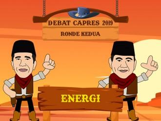 Tema Energi dalam Debat Capres 2019