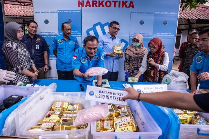 BNN Musnahkan 99,7 Kg Sabu