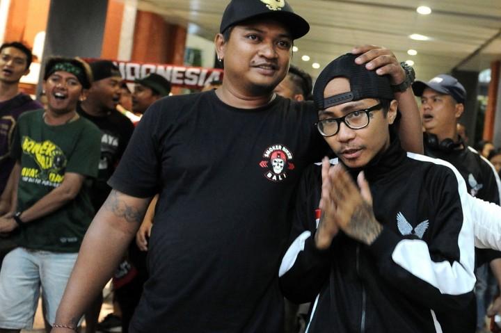 Ditahan di Malaysia 10 Hari, Suporter Indonesia Tiba di Bali